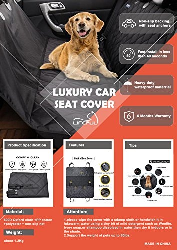 Pet-Seat-Cover-LifepulTM-Dog-Seat-Cover-For-Cars-Anti-Slip-In-Large-Size-Perfect-For-Cars-SUVs-and-Trucks-In-Universal-Size-WaterProof-Hammock-Convertible-Installing-Easily