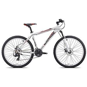 513VV0qelnL. SS300 Carratt Acera 21 Disk, Mountain Bike Uomo, Bianco, 40