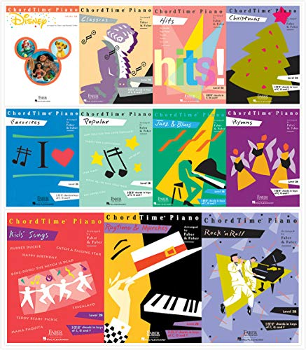 Faber Piano Adventures ChordTime Piano Level 2B Complete Set (11 Books) - Disney, Christmas, Favorites, Classics, Popular, Hits, Hymns, Kids' Songs, Jazz&Blues, Rock'n Roll, Ragtime&Marches