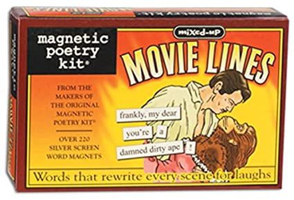 magnetic poetry mixed up movie lines kit words for refrigerator write poems