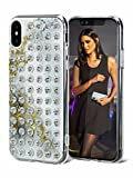 iPhone X Case - AirPower Compatible [Wireless Charging] Super Slim Glossy Anti-scratch Finish Durable TPU/PC Hybrid Snap-on Cover with SWAROVSKI Crystals - White Crystal