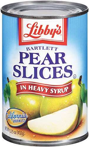 Libby's Pear Slices HS, 15.25 Ounce (Pack of 12)