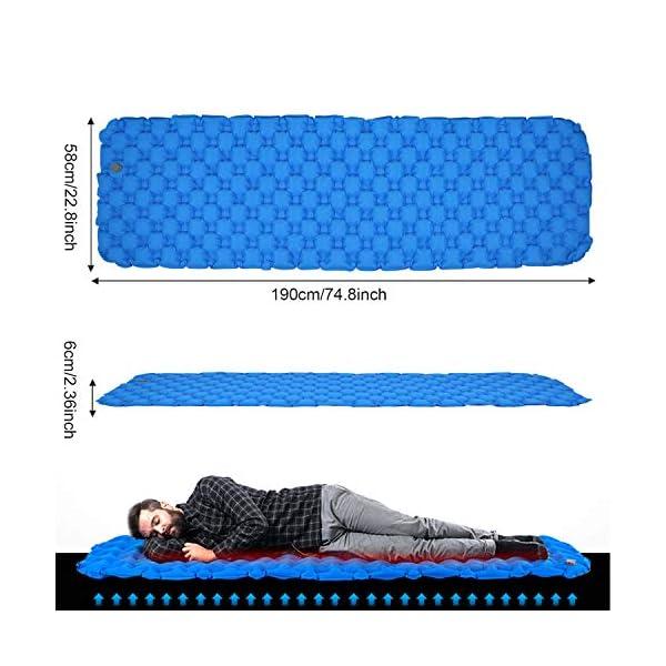 513VVic6j6L BIFY Isomatte Camping Schlafmatte Ultraleicht Kleines Packmaß. Aufblasbare Luftmatratze für Outdoor Camping, Reise…