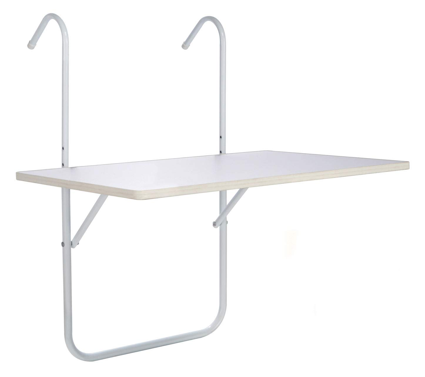 Folding balcony table–weather-proof–in white Spetebo