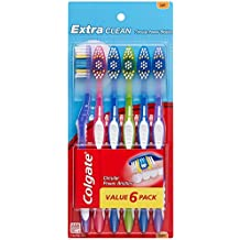 Colgate Extra Clean Toothbrush, Full Head, Soft (6 Count)