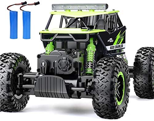 RC Car, NQD Remote Control Monster Truck, 2.4Ghz 4 wheel drive Off Road Rock Crawler Vehicle, 1:16 All Terrain Rechargeable Electric Toy for Boys & Girls Gifts (Green)