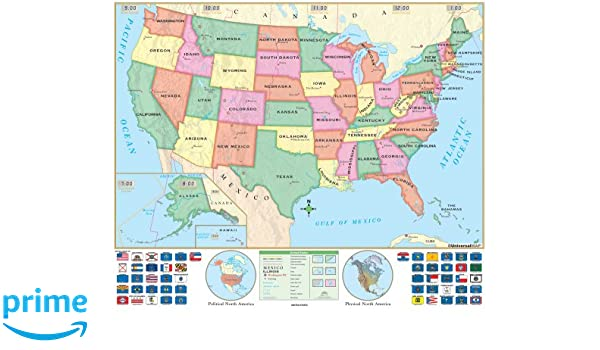 US Beginner Wall Map - Pre K through First grade - Laminated and ...