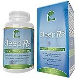 Best Natural Sleep Aid Deep Sleep Formula, Herbal Sleep Aids For Adults, with Magnesium, Valerian Root, Melatonin, 5-HTP, L-Tryptophan, GABA, Chamomile, HOPS, Lemon Balm - Sleep R3 Lifetime Guarantee!