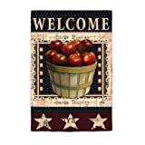 Welcome Apples Garden Flag