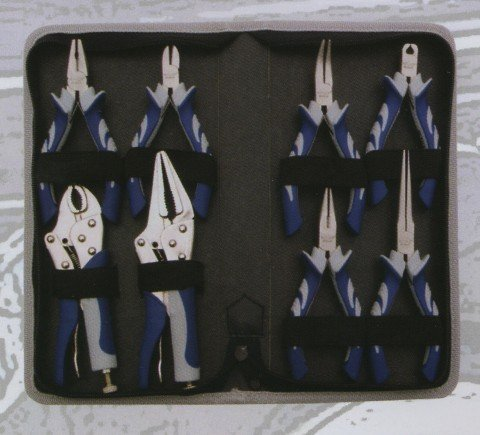 VIM Hand Tools (MP200) Miniature Precision Plier Set 8 Pc. by VIM Hand Tools