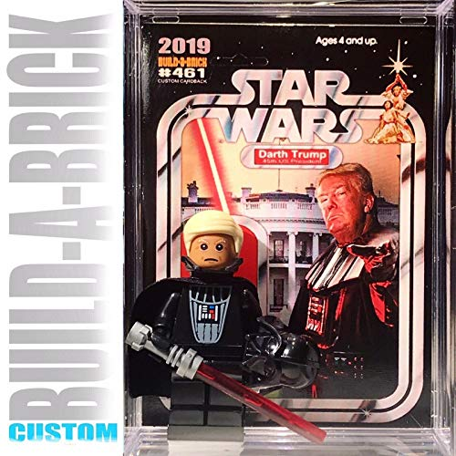 Build-A-Brick Star Wars Darth Donald Trump Custom Mini Action Figure w/ Display Case & UV Custom Collectible poster movie Trading card Gift for boys & Adult Vintage Toy Series & Superheroes collectors -  BUILD-A-BRICK Custom Entertainment Collectibles, BAR461