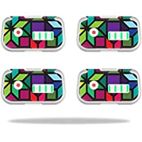 Skin For DJI Phantom 3 Drone Battery (4 pack) – Stained Glass Window | MightySkins Protective, Durable, and Unique Vinyl Decal wrap cover | Easy To Apply, Remove, and Change Styles | Made in the USA