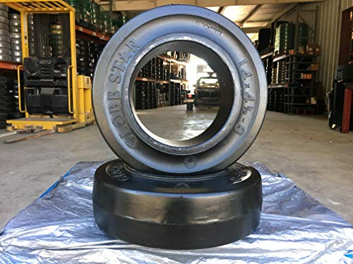 Forklift Black Smooth Tire 14X4-1/2X8