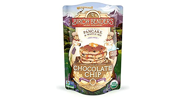 Birch Benders - Panqueques y wafles mezclan chispas de Chocolate - 16 oz.: Amazon.es: Alimentación y bebidas