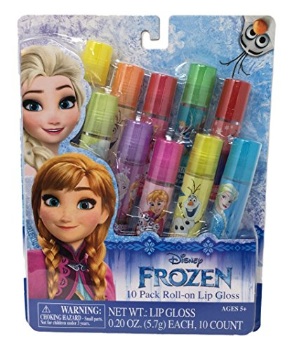 - Disney Princess Flavored 10 Pack Roll-on Lip Glosses (Frozen Lip Gloss 10 pack)