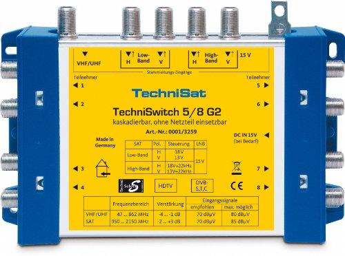 TechniSat TechniSwitch 5/8 G2 Multischalter inkl. Netzteil