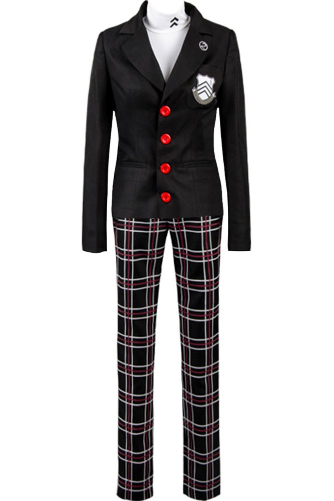 CosplaySky Persona 5 Costume Protagonist Outfit Medium