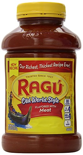 Ragu Pasta Sauce, Old World Style, Meat 45 Ounce, 45-Ounce Jars (Pack of 4)