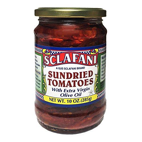 (Gus Sclafani Fine Italian Imports Sun Dried Tomatoes in EVOO 10 oz Jar (2)