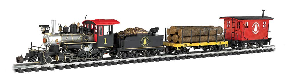 """Bachmann Trains - North Woods Logger Ready To Run Electric Train Set - Large """"G"""" Scale"""