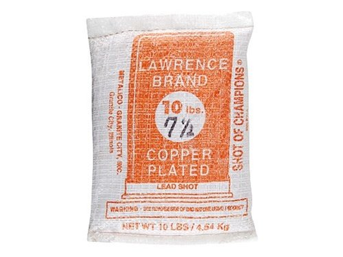 Lawrence Copper Plated Lead Shot #7.5 10 Pound Bag by Lawrence