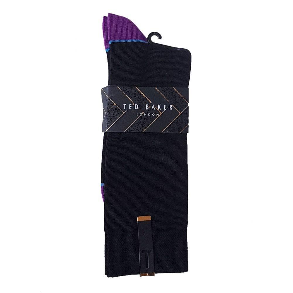 27e274b3905485 Ted Baker Socks 1 Pair Jack Black One Size Mens  Amazon.co.uk  Clothing