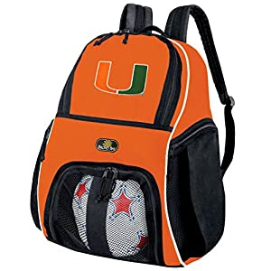 University of Miami Soccer Ball Backpack or Volleyball Bag Orange