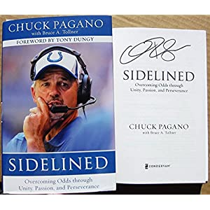 Chuck Pagano Signed Autographed Book Sidelined Colts Coach