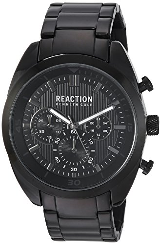 Kenneth Cole REACTION Men's 'Sport' Quartz Metal and Stainless Steel Casual Watch, Color:Grey (Model: 10031949)