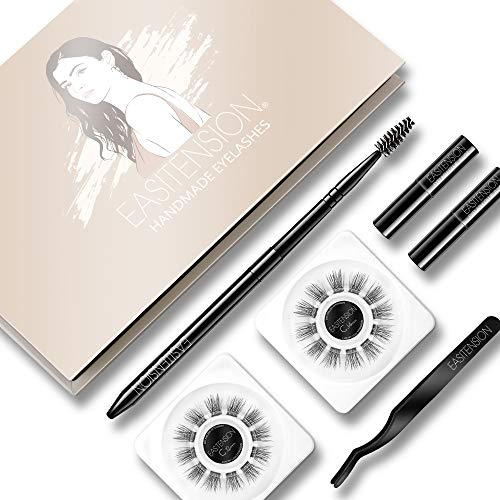 DIY Eyelash Extension, 3D Effect Individual Melt Flare Lash Cluster Natural Lashes Set, Home Eyelash Extension, D curl Lashes Pack 12mm,14mm