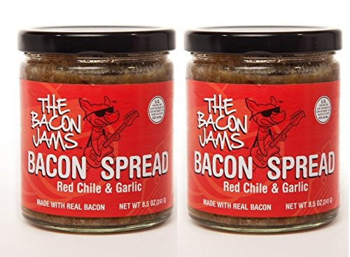 Chile Jam (Bacon Spread - The Bacon Jams Red Chile & Garlic- 2 Pack of 8.5 oz Jars)