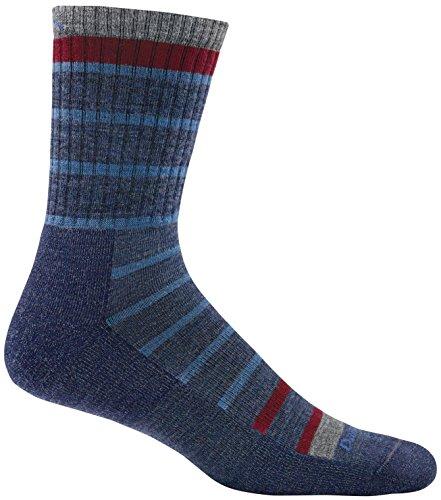 Darn Tough Via Ferratta Micro Crew Cushion Sock - Men's Blue Large