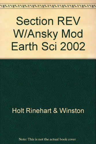 2002 Holt Modern Earth Science Section Reviews with Answer Key