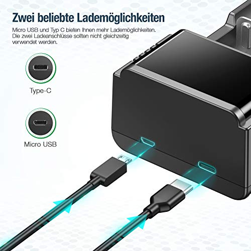 HiQuick 18650 Akku Ladegerät, universelles intelligentes LCD Bildschirm Ladegerät, smart Ladegerät für AA AAA C D wiederaufladbare Akkus und 3.7V wiederaufladbare Akkus