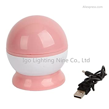 Amazon.com: USB láser proyector LED romántico giratorio ...