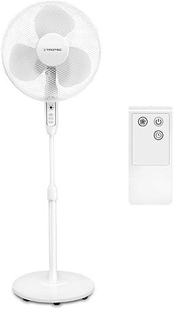 TROTEC Ventilatore a piantana TVE 25 S 40 Watt di potenza 80/° Oscillazione Telecomando a infrarossi