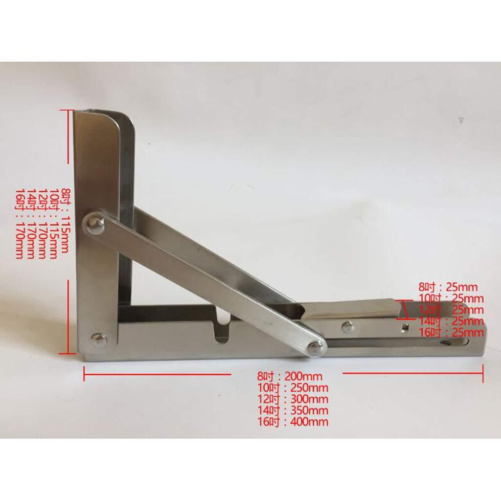 Sharplace Set de 2pcs Support d/Étag/ère Table Pliant de Bateau en Acier Inoxydable 304