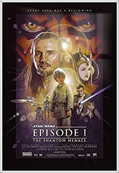 Star Wars Episode I – The Phantom Menace – Framed Movie Poster Print Regular Style Size 24 inches x 36 inches