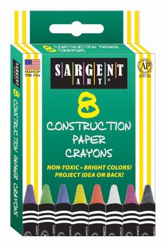 Sargent Art 35-0536 8-Count Construction Paper Crayon