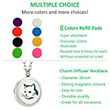 JAOYU Essential Oil Diffuser Necklace Cat Pendant