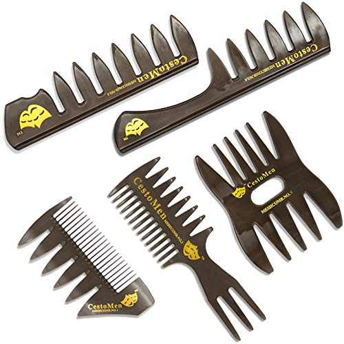 Professional Hair Combs - 5 PCS Hair Comb Styling Set Barber Hairstylist Accessories - Professional Shaping & Teasing Wet Combs Tools, Anti Static Hair Brush for Men Boys