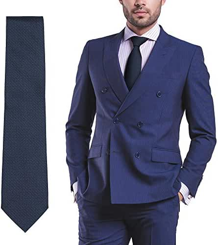 Amazon Prime Deals Mens Clothing Fashion Formal Wear Woven Silk Suit Tie