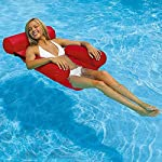 CYSJ-Piscina-Gonfiabile-sedie-a-Sdraio-Amaca-Gonfiabile-con-Rete-Amaca-Gonfiabile-Galleggiante-Reclinabile-Sedia-di-drenaggio-Galleggiante-Spiaggia-Sport-Acquatici-Sedia-Rosso