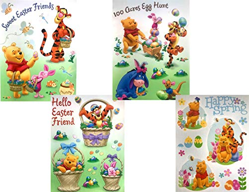 BlackLabel Direct Winnie The Pooh and Friends Easter Window Clings - Set of 2 Assorted