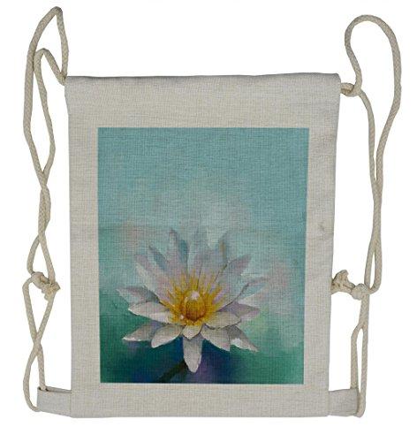 Lunarable Flower Drawstring Backpack, Impressionist Daisy Drawing, Sackpack Bag