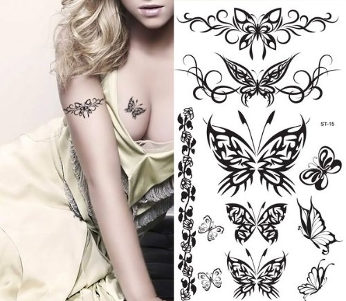 Supperb Butterfly Temporary Tattoos/6-pack by Supperb (Image #2)