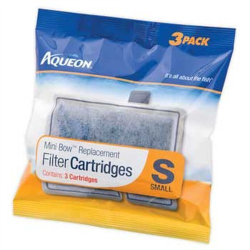 Aqueon QuietFlow Filter Cartridge, Small, 3-Pack