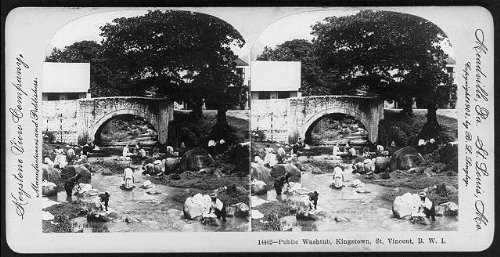 Photo: Photo of Stereograph,Public Washtub,Kingstown,St. Vincent,British West - Fashion Blogs Indie