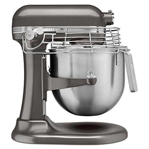 KitchenAid KSMC895DP 8-Quart Commercial Countertop Mixer with Bowl-Guard, 10-Speed, Gear-Driven, Dark Pewter