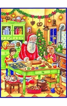 "ADV70110 - Sellmer Advent - Large Baking Santa - 14.5""""H x 11""""W x .1""""D"